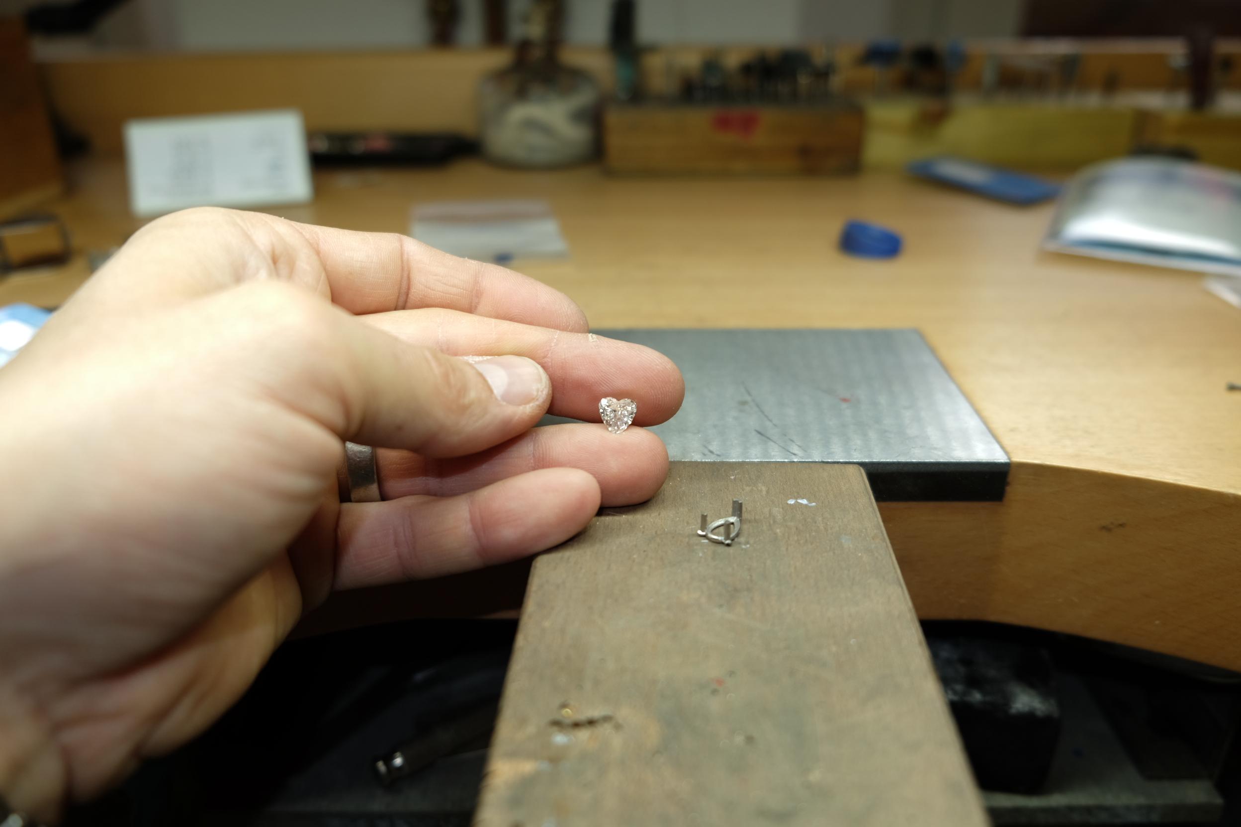 Diamant taille coeur 1 carat